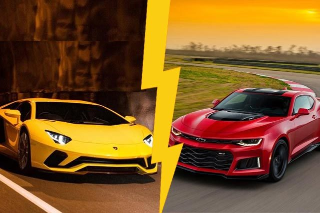 Challenger Vs Charger >> 2017 Chevy Camaro ZL1 Vs Lamborghini Aventador S Unveiled