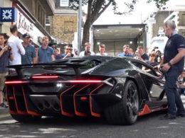 Lamborghini Centenario Arrives and Revs in London