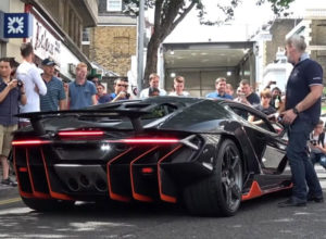 Lamborghini Centenario Arrives and Revs in London