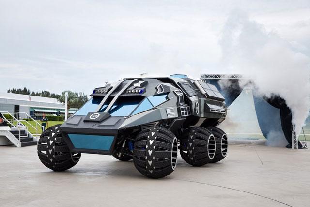 NASA Unveils Six Wheeled Mars Rover