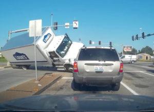 Lowes Truck Runs Red Light