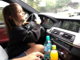 Little Girl Drives BMW M5
