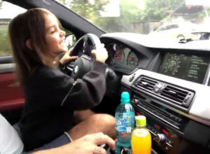Little Girl Drives BMW M5