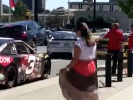 NASCAR Show Car Gets Hit on Charlotte Street During Event Promoting Sunday's Race