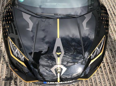 Batman's Lamborghini Huracan Performante Shows Up in Germany