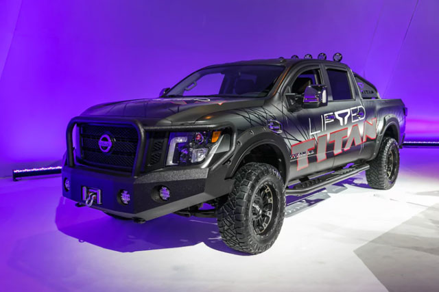 Nissan Titan with ICON Vehicle Dynamics Lift Kit