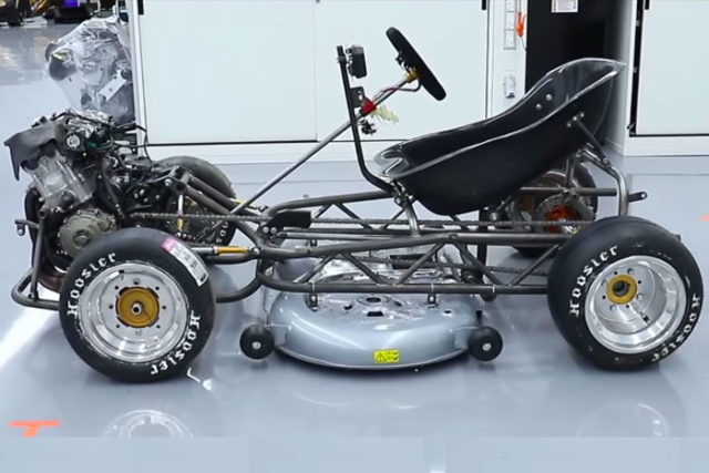 Honda CBR1000RR Powered Lawnmower