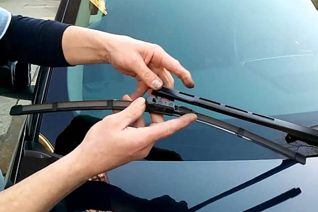 Clean and Replace Windshields Wipers