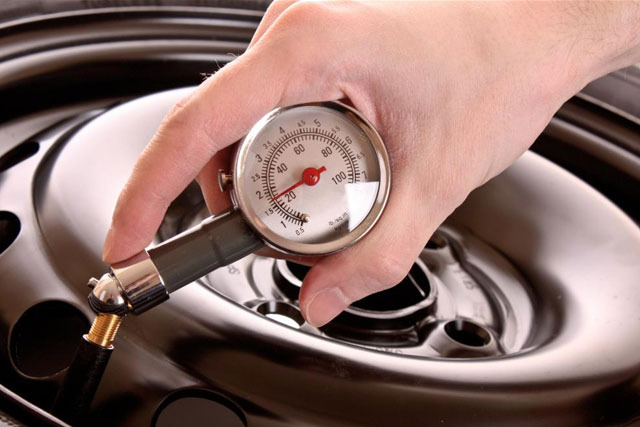 Inspect Tire and Fluid Pressure