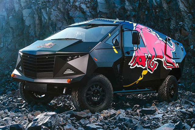 Red Bull's 'Armored Moon Vehicle' Land Rover