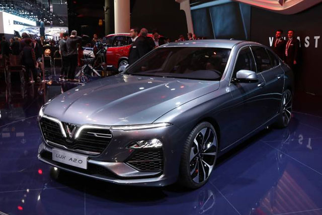 VinFast LUX A2.0 saloon and LUX SA2.0 SUV