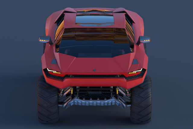 Lamborghini LM005 Concept Designs by Car Design News
