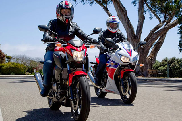 Honda CB300F and Honda CBR300R