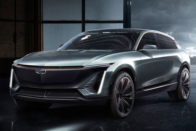 Cadillac teases images of its first all-electric vehicle