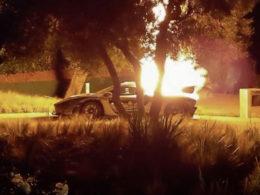 Heartbreaking Image of McLaren Senna on Fire
