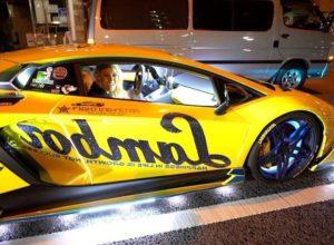 Lamborghini Aventador Covered in Swarovski Crystals in Tokyo