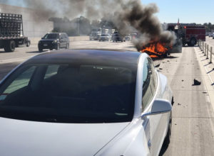 Tesla Model 3 High-Speed Crash That Left Gas-Powered Car in Flames