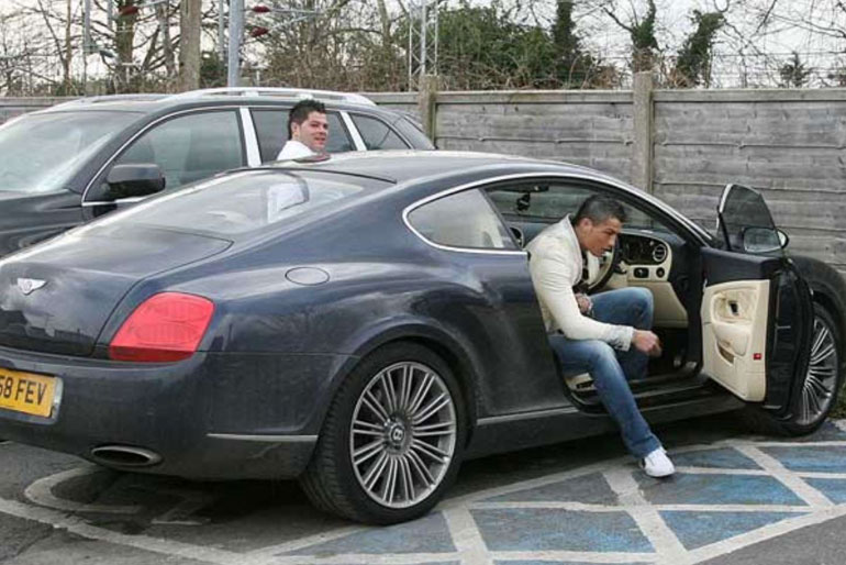 Cristiano Ronaldo Bentley GT Speed