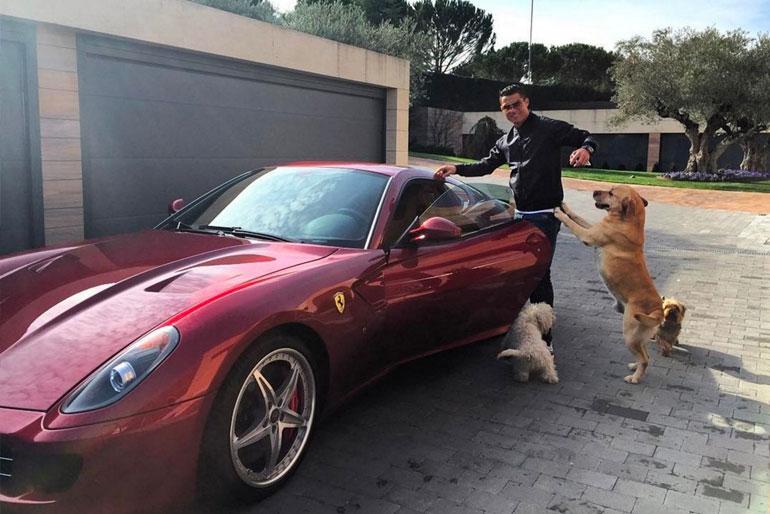 Cristiano Ronaldo Ferrari 599 GTB Fiorano