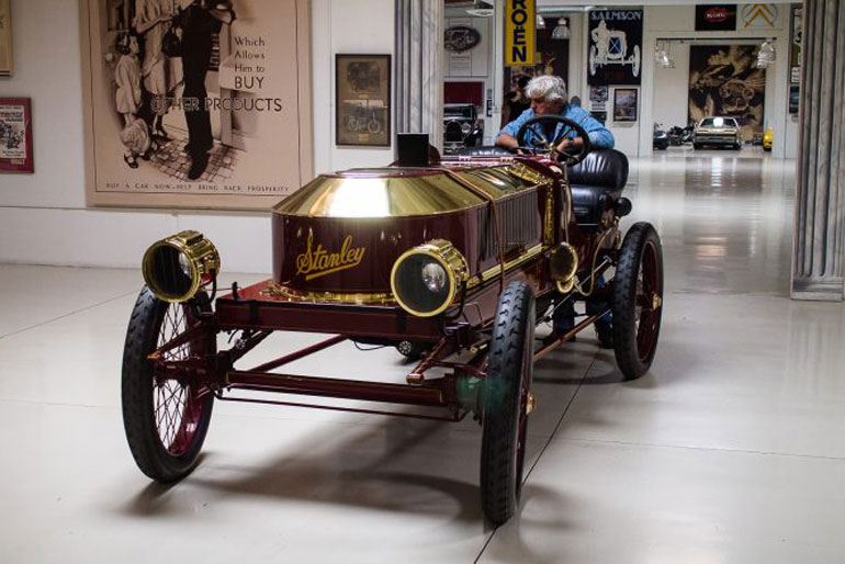 Jay Leno 1906 Stanley Steamer Vanderbilt Cup Racer