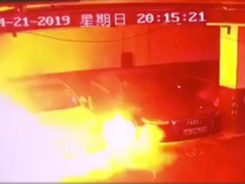 Tesla Investigates Video of Parked Model S Explode in Shanghai, China