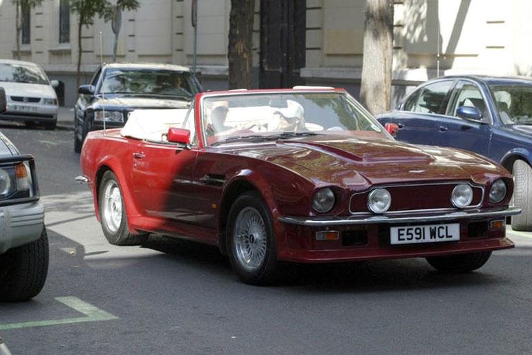 David Beckham Aston Martin V8 Vantage