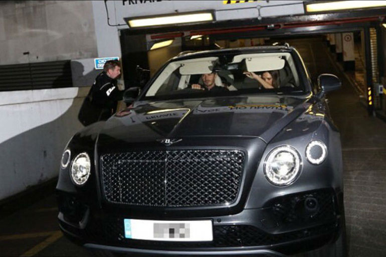 David Beckham Bentley Bentayga