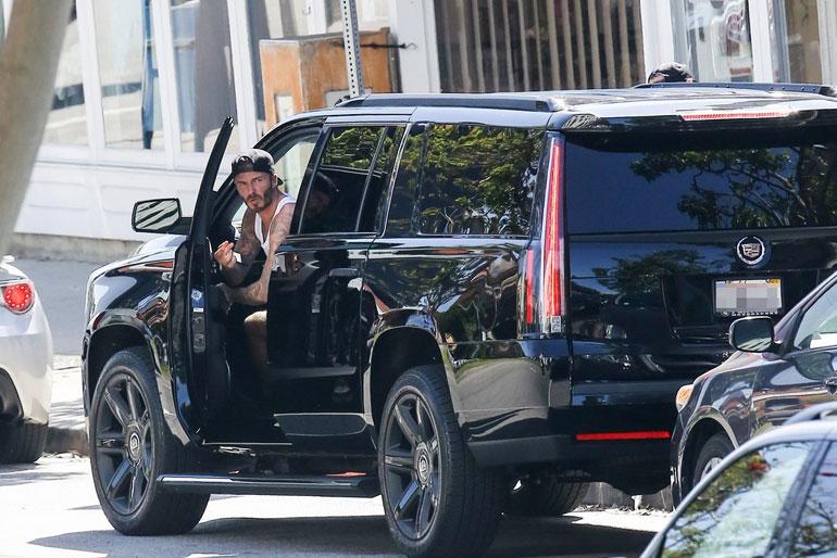 David Beckham Cadillac Escalade
