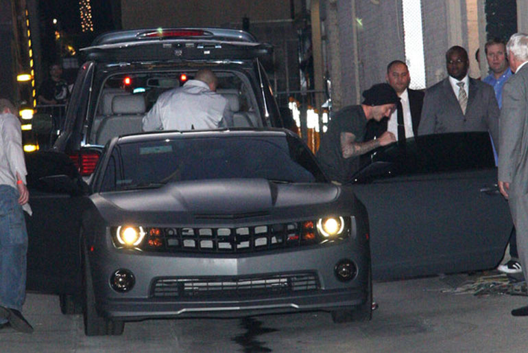 David Beckham Chevrolet Camaro SS