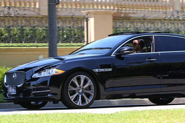 David Beckham Jaguar XJ