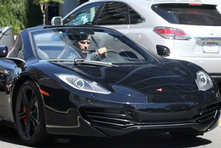 David Beckham McLaren MP4-12C SPIDER
