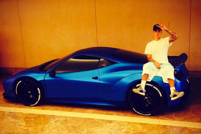 Justin Bieber Ferrari 458 Italia