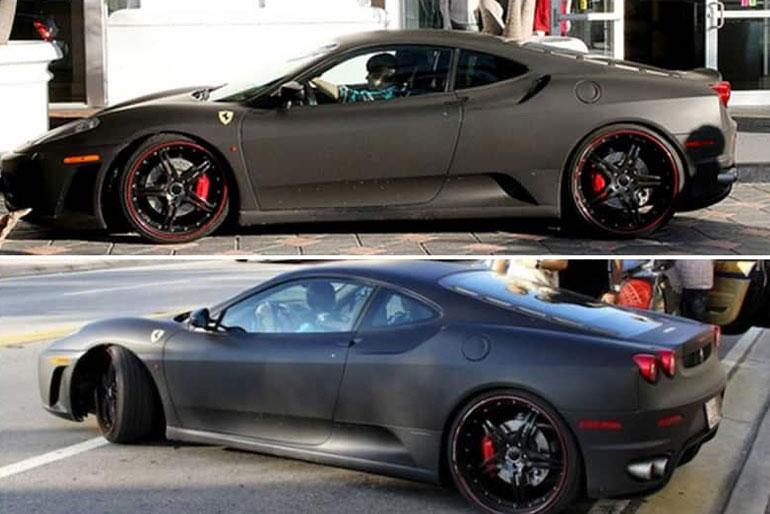 Justin Bieber Ferrari F430