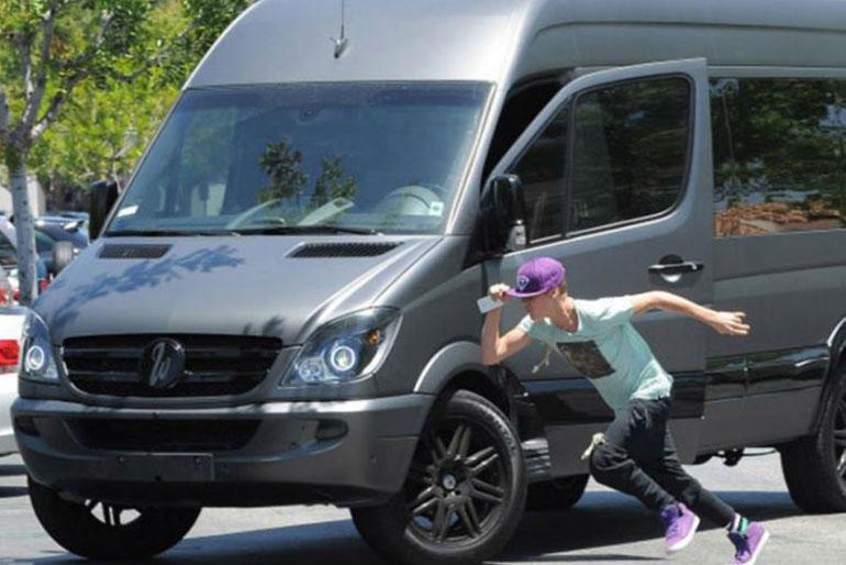 Justin Bieber Mercedes Benz Sprinter Van