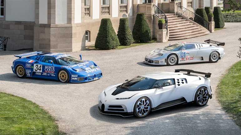 2020 Bugatti Centodieci and Bugatti EB110 Le-Mans