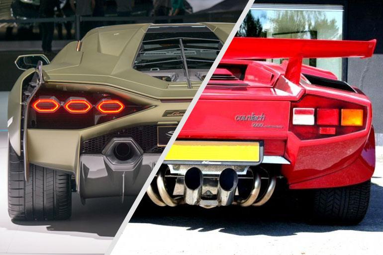 Lamborghini Sian and Countach
