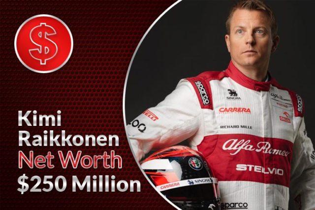 Kimi Raikkonen Net Worth – $250 Million