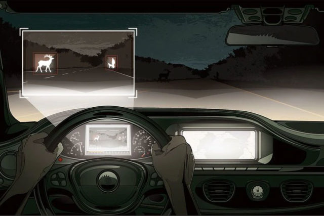 Role of Artificial Intelligence in Infrared Deer Detector for Cars
