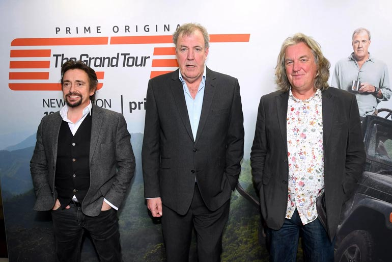 Top Gear's Jeremy Clarkson, Richard Hammond and James May