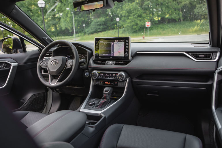 How is the interior of the 2021 Toyota RAV4?