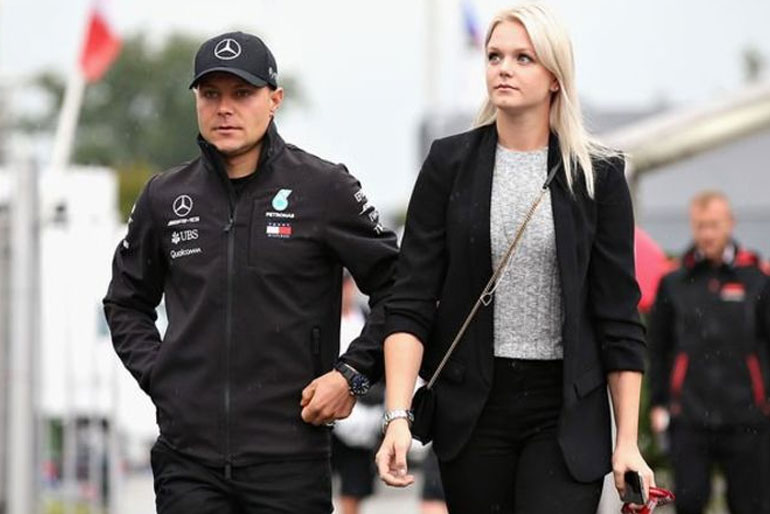 Valtteri Bottas currently dating Tiffany Cromwell